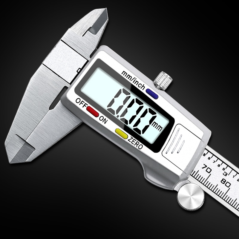 KANJJ-YU High Precision Stainless Steel Metal Digital Caliper 6 inch 150cm Measuring Instrument LCD Vernier Calipers Measuring Tools Color : Only a Caliper